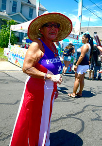 7/21/2018 Mike Orazzi | Staff Carmen Vireuet during the annual  Puerto Rican Festival held on High Street in New Britain Saturday.