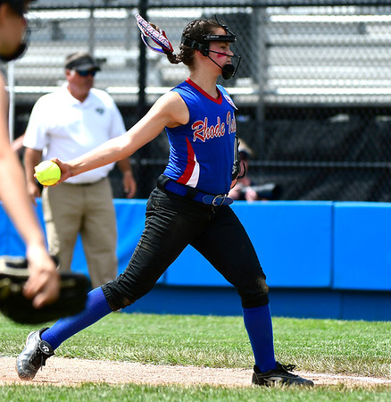7/25/2018 Mike Orazzi | Staff Rhode Island's Paige Cote (10) during a win over Delaware at Breen Field in Bristol Tuesday afternoon.