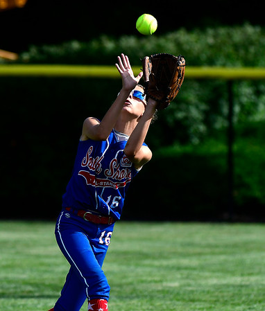 7/25/2018 Mike Orazzi | Staff New York's Christine Girellini (16) at Breen Field in Bristol Tuesday afternoon.