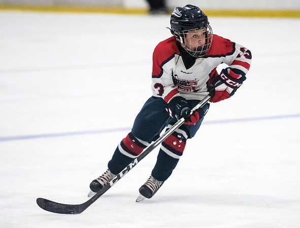 07/25/18 Wesley Bunnell | Staff The Central CT Capitals AA (Newington) were defeated by Kent Elite 07 in 12U Nutmeg Games ice hockey on Wednesday evening. Dominic Dicioccio (13).