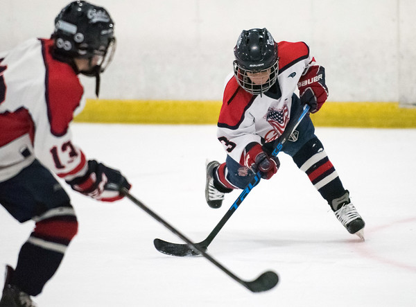 07/25/18 Wesley Bunnell | Staff The Central CT Capitals AA (Newington) were defeated by Kent Elite 07 in 12U Nutmeg Games ice hockey on Wednesday evening. Jack Petronio (3).