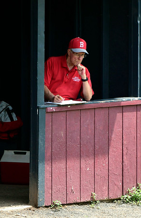 7/27/2018 Mike Orazzi | Staff Bristol American Legion General Manager Paul LaFleur during the state tournament held at Tunxis Meade Field in Farmington Friday afternoon.
