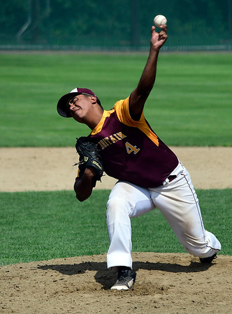 7/28/2018 Mike Orazzi | Staff Alex Rozario (4) during Nutmeg baseball at Beehive Field Saturday morning.