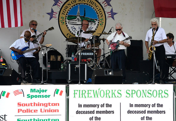 7/28/2018 Mike Orazzi | Staff Members of the Sam Vincent Quintet from Middletown during the 14th annual Italian Festival held of Lower Center Street in Southington Saturday.