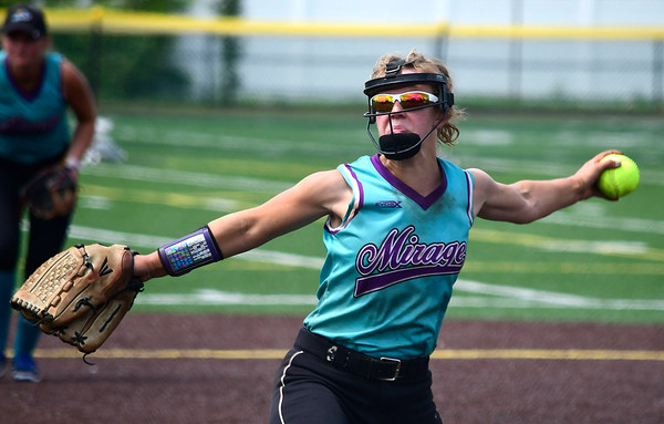 7/28/2018 Mike Orazzi | Staff CT Mirage's Abby Wells (2) at Chesley Park in New Britain Saturday afternoon.