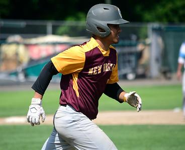 7/28/2018 Mike Orazzi   Staff Francisco Alvarado (11) during Nutmeg baseball at Beehive Field Saturday morning.