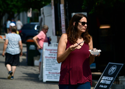 7/28/2018 Mike Orazzi | Staff Jessica Ruffini during the 14th annual Italian Festival held of Lower Center Street in Southington Saturday.