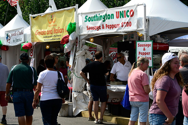7/28/2018 Mike Orazzi | Staff The 14th annual Italian Festival held of Lower Center Street in Southington Saturday.