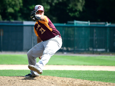 7/28/2018 Mike Orazzi | Staff Ruffino Santiago (11) during Nutmeg baseball at Beehive Field Saturday morning.