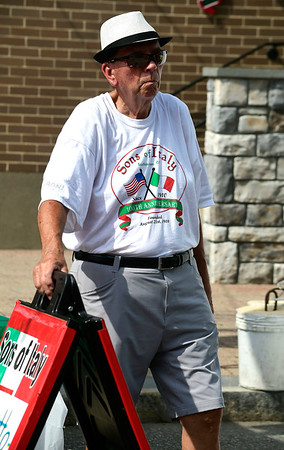 7/28/2018 Mike Orazzi | Staff Sons of Italy member Bill Zantow during the 14th annual Italian Festival held of Lower Center Street in Southington Saturday.