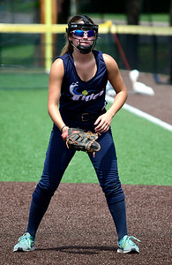 7/28/2018 Mike Orazzi | Staff CT Tides White Mary Evans (5) at Chesley Park in New Britain Saturday afternoon.