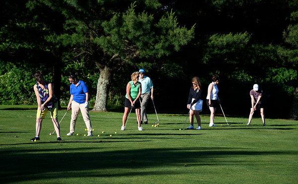 6/19/2018 Mike Orazzi | Staff Participants in the Central Connecticut Chambers of Commerce Matinees and Mulligans Golf program at Chippanee Golf Club in Bristol Tuesday evening.