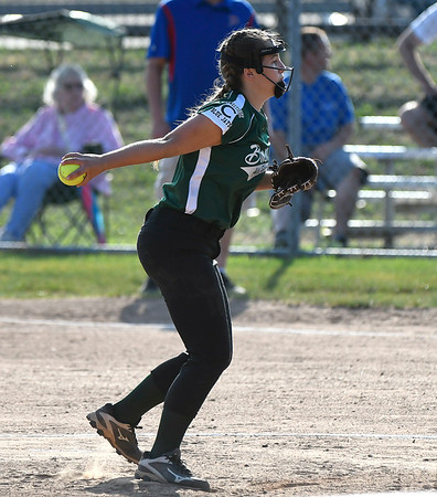 7/5/2018 Mike Orazzi | Staff Bristol's Kayla Wisz (5) during Thursday nights District 5 softball game with Plainville at Casey Field in Bristol.