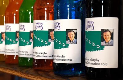 7/7/2018 Mike Orazzi | Staff Connecticut Senator Chris Murphy soda at Avery Beverage in New Britain Saturday.