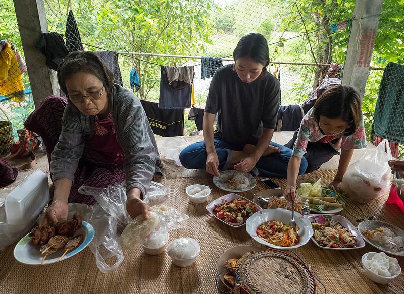 feast at the rice farm