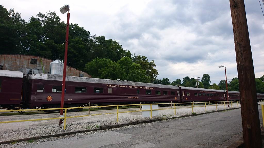 Great Smoky Mountains Railroad - Bryson City Bridge, North Carolina