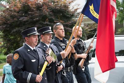 The color guard. (Bill Giduz photo)