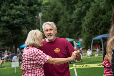 Scenes from the dance floor as Da Throwback Band presented a Concert on the Green. (Bill Giduz photo)