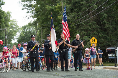A color guard of first responders led the parade down South Street. (Bill Giduz photo)