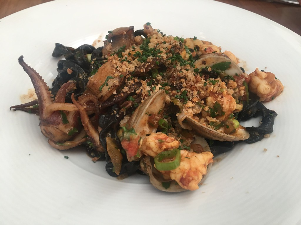 Seafood pasta at St. Cecilia