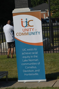 The Unity in Community mission is featured on a banner. (Bill Giduz photo)