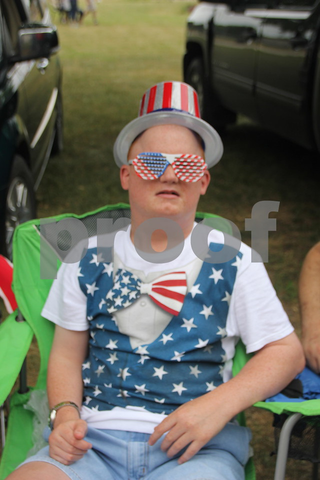 Chris Forsberg waits for the parade to start decked out in patriotic attire. The Otho Fourth of July Parade took place in Otho on July 4, 2016.