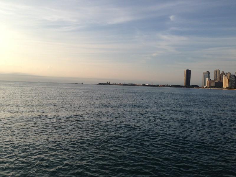 early morning run along the Lake