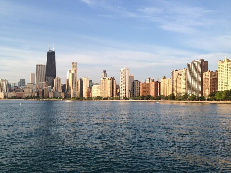 Morning run along the Lake
