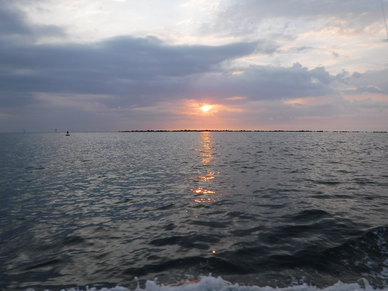 sunrise from the boat