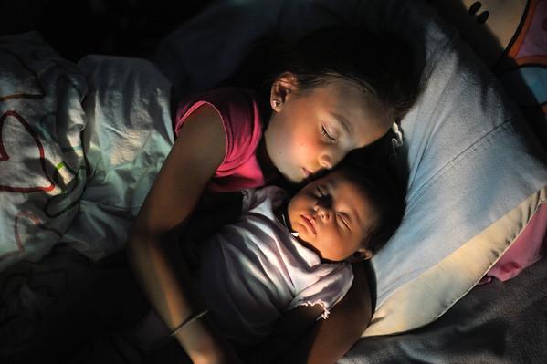 7/26/12 Norah and Madeline sleeping