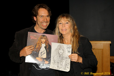 Juice Newton was presented with this sketch by a local artist - Century Casino