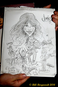 Sketch of Juice Newton - Century Casino