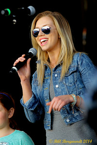 Chelsea Bird, Clayton Bellamy's afternoon co-host on CISN introduces The Road Hammers - Koodonation Stage at K-Days
