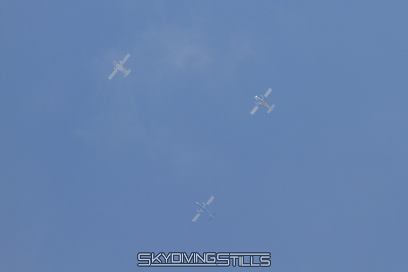 Planes in formation.