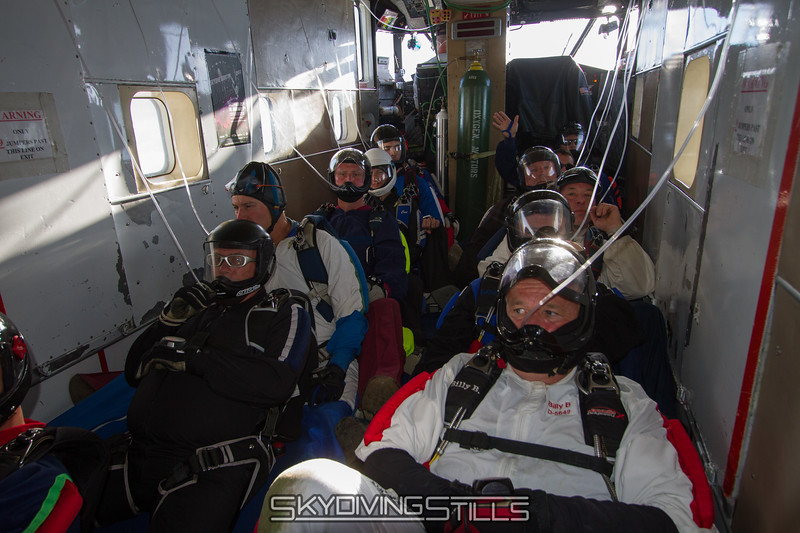 Breathing oxygen on the way to 18,000 feet.