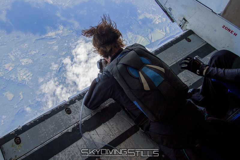 Roger checks the spot while breathing oxygen at 18,000 feet.