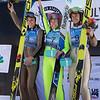 Abby Ringquist, Sarah Hendrickson and Nita Englund<br /> Ski Jumping<br /> 2018 U.S. Oympic Team Trials at the UOP<br /> Photo: U.S. Ski & Snowboard