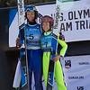 Michael Glasder and Sarah Hendrickson<br /> Ski Jumping<br /> 2018 U.S. Oympic Team Trials at the UOP<br /> Photo: U.S. Ski & Snowboard