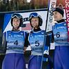 Kevin Bickner, Michael Glasder and Will Rhoads<br /> Ski Jumping<br /> 2018 U.S. Oympic Team Trials at the UOP<br /> Photo: U.S. Ski & Snowboard