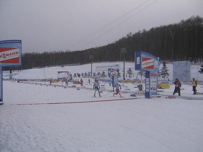 Demong clips Anssi Koivuranta a the finish line for silver (credit: Doug Haney/U.S. Ski Team)