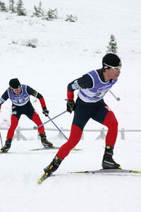 Eric Camerota (21) leads Brett Camerota (14), World Cup B Nordic Combined, Soldier Hollow, UT