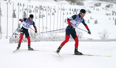 Eric Camerota (21) Brett Camerota (14), World Cup B Nordic Combined, Soldier Hollow, UT