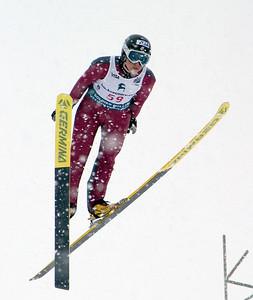 Jessica Jerome wins 2008 backcountry.com U.S. Ski Jumping Championships, HS100 normal hill . Photo: Tom Kelly/U.S. Ski Team