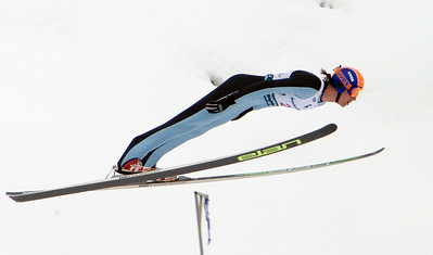 Anders Johnson, champion, 2008 backcountry.com U.S. Ski Jumping Championships, HS134 large hill. Photo: Tom Kelly/U.S. Ski Team