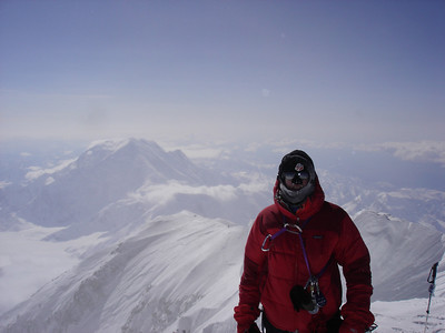 Aaron Saari on the summit of Alaska's Denali on May 16, 2007 (credit: Scott Wazny)