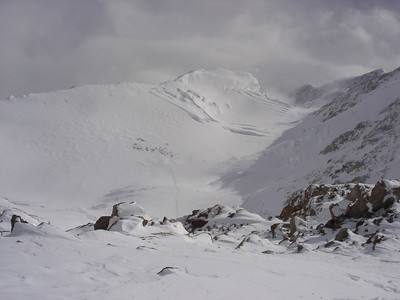 A view of the camp at 14,200 feet (credit: Aaron Saari)