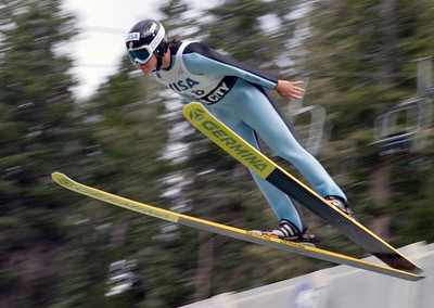 Jessica Jerome, Park City, UT, U.S. Ski Team - The best women's ski jumpers in the world took part in the Visa Women's International Ski Jumping Festival, a Continental Cup ski jumping event on the Olympic venue at the Utah Olympic Park in Park City, UT.