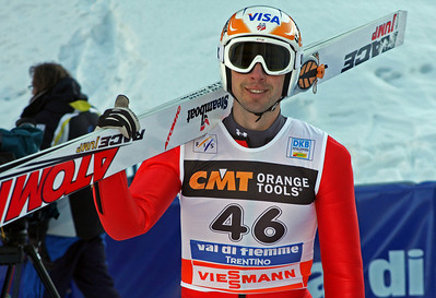 Johnny Spillane at the DKB FIS Nordic Combined World Cup, Val di Fiemme, Italy (FIS-Egon Theiner)