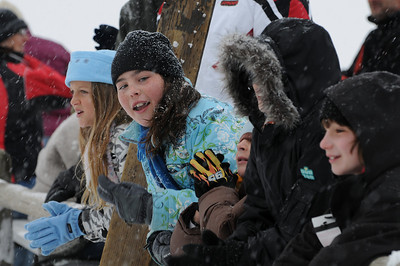 Kids cheer at the Olympic Trials for nordic combined at Howelsen Hill in Steamboat Springs, CO. (U.S. Ski Team/Tom Kelly)
