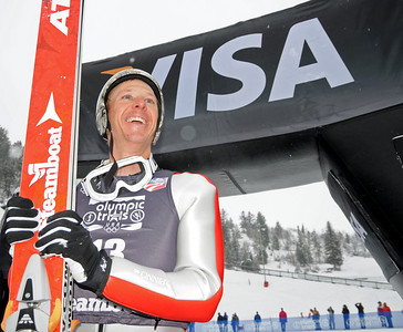 Todd Lodwick took the lead after jumping in the Olympic Trials for nordic combined at Howelsen Hill in Steamboat Springs, CO. (U.S. Ski Team/Tom Kelly)